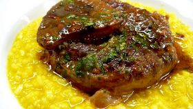 Ossibuchi con il risotto giallo
