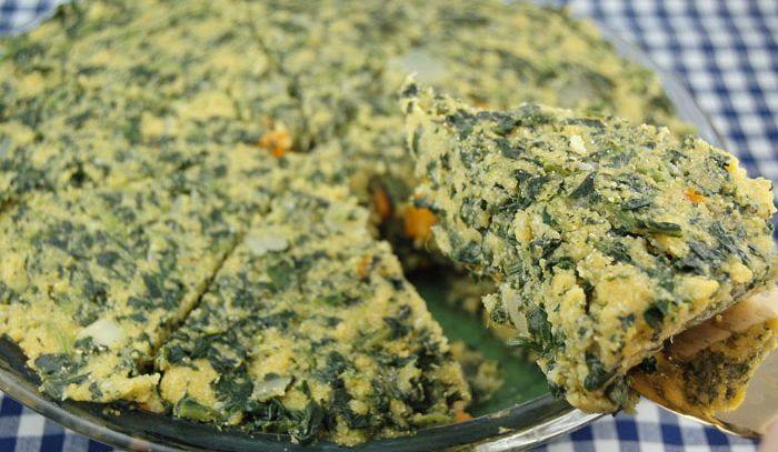 Polenta con spinaci