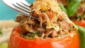 Pomodori ripieni con pancetta