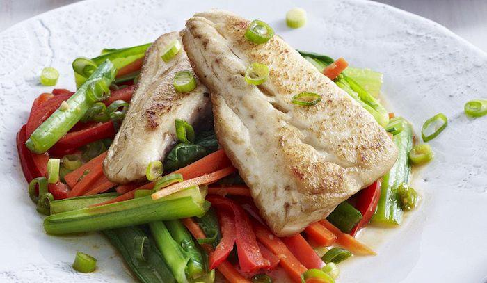 Filetti di nasello alle verdure