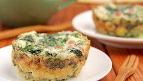 Tortino di spinaci patate e uova