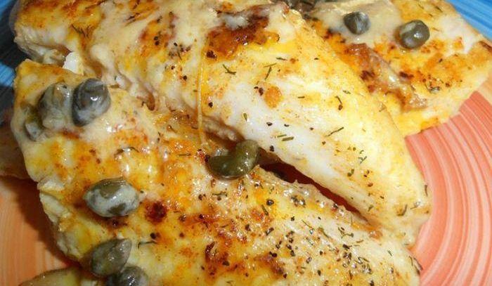 Pesce persico in salsa