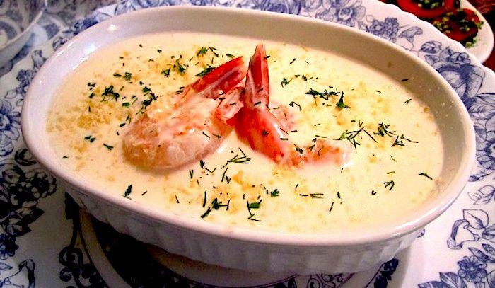 Crema di patate e scampi