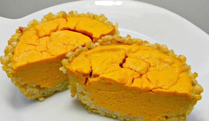 Crostata di carote, riso e formaggio