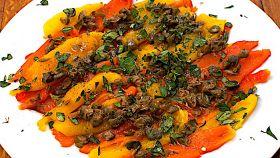Filetti di peperoni e capperi