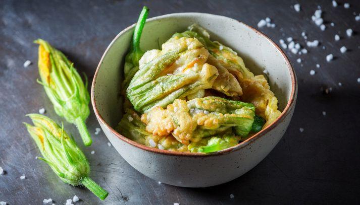 Fiori di zucca al tofu