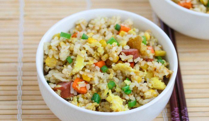 Frutti di mare piccanti con riso
