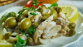 Filetto di merluzzo in insalata