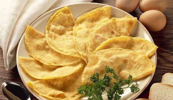 Omelette con crostini