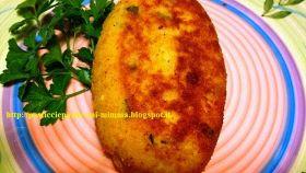 Crocchettona di patate, ripiena di pollo al pomodoro