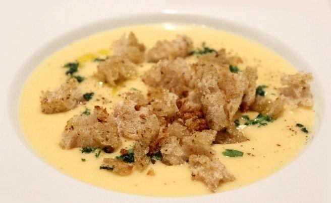 Crema di zucca e patate con mollica croccante
