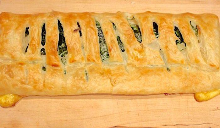 Strudel salato agli spinaci