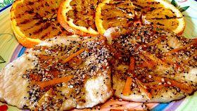 Lonza di maiale con arance grigliate