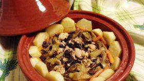 Taijine di pollo, carciofi e patate