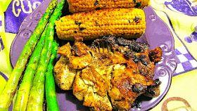 Pollo alla piastra con asparagi