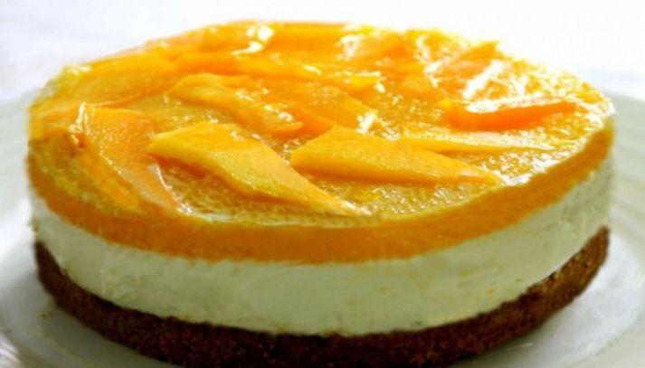 Cheesecake al mango senza forno