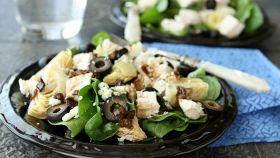 Insalata di pollo e spinaci