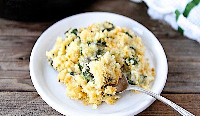 Torta di quinoa, spinaci e formaggio