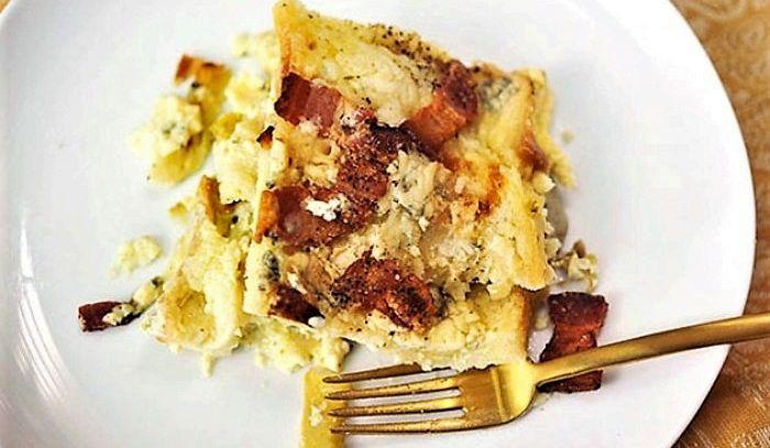 Budino di carciofi, pancetta e gorgonzola