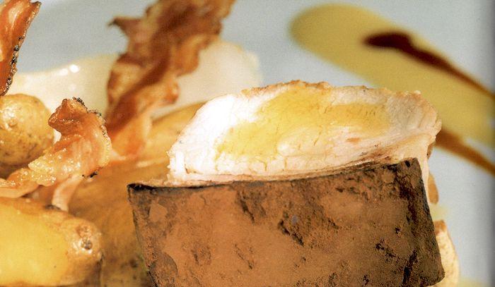 Sella di maialino in crosta di cacao