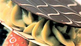 Triplo disco di cioccolato con crema al pistacchio