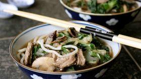 Zuppa con bocconcini di carne