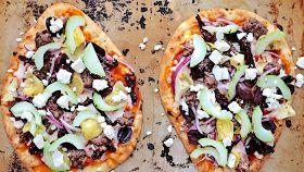Pizza greca all'agnello
