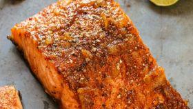 Salmone glassato all'arancia