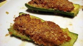 Zucchine ripiene di seitan