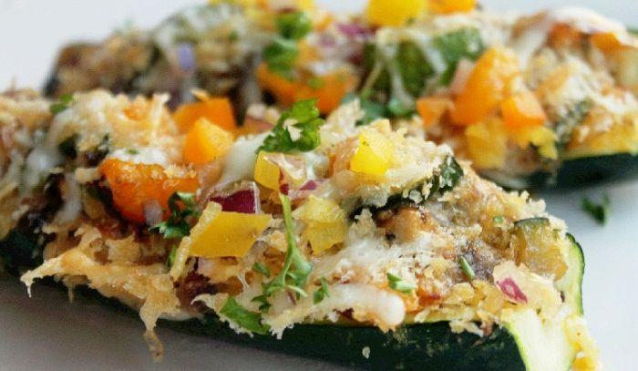 Zucchine a barchetta vegetariane