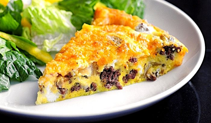 Frittata al cheeseburger