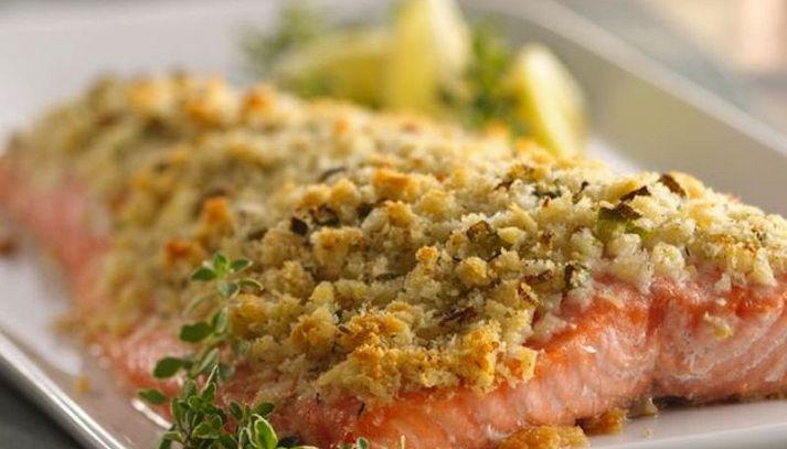 Filetti di salmone al forno con aneto