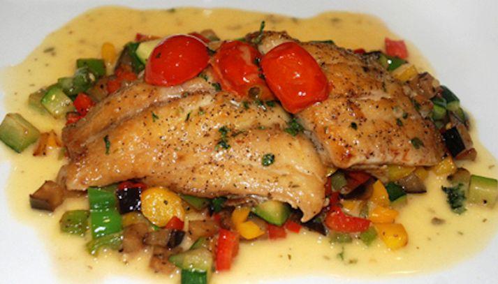Petto di pollo alle verdure