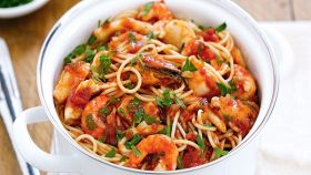 Spaghetti cozze e gamberetti