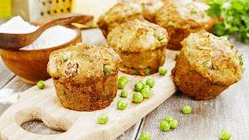 Mini muffin piselli e prosciutto