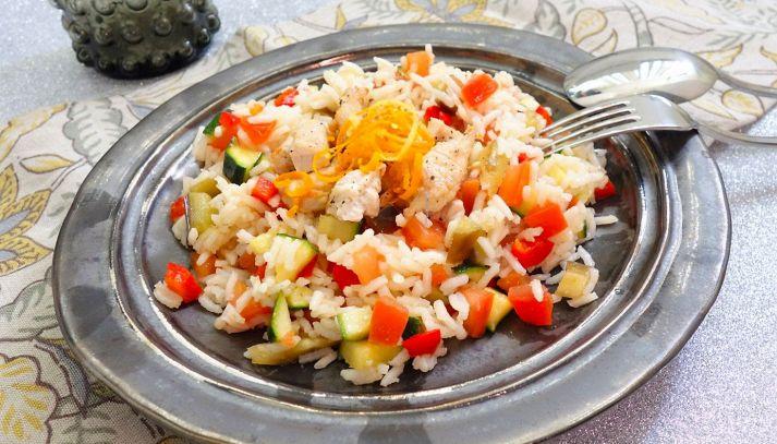 Insalata di Riso Gallo Aroma con straccetti di tacchino e verdure