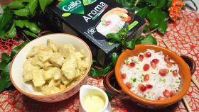 Pollo al curry con Riso Gallo Aroma e salsa di mela