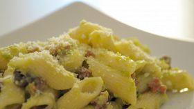 Penne olive ed asparagi