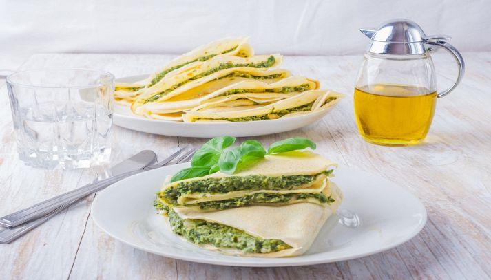 Crepes di ricotta e spinaci
