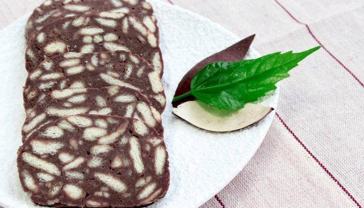 Salame di cioccolato con cacao