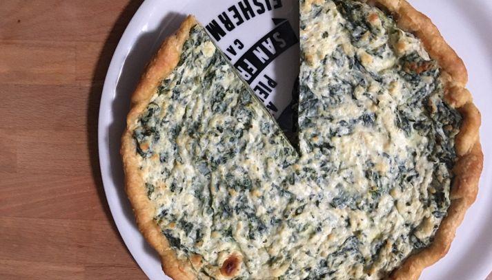 Torta salata di spinaci e biete