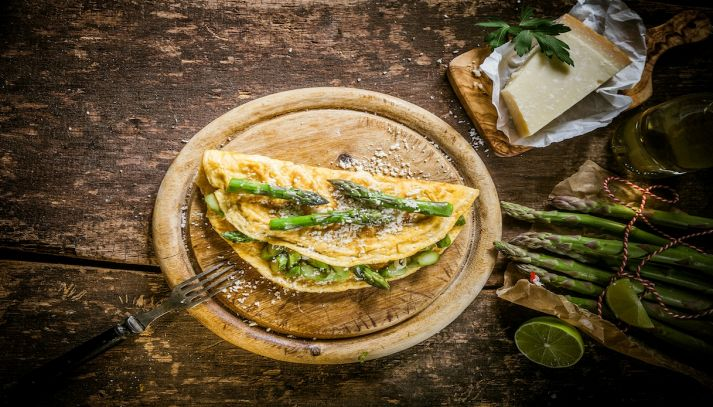 Frittata di asparagi al forno