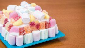 Torta con marshmallow