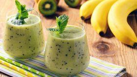 Frullato a base di banana e kiwi