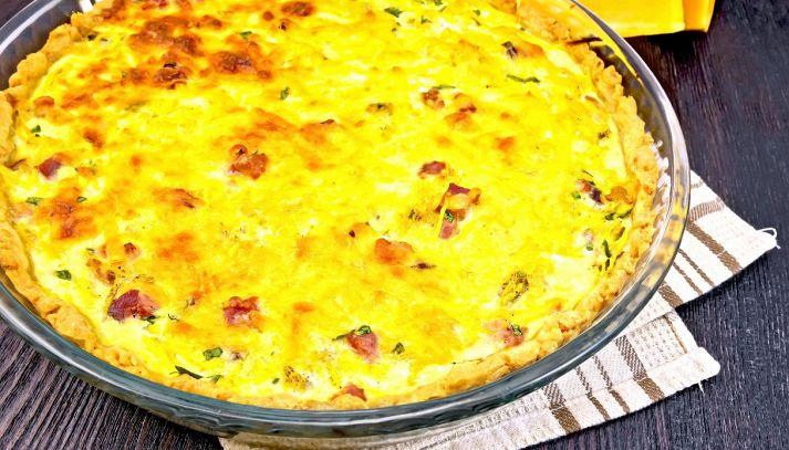 Torta salata con radicchio