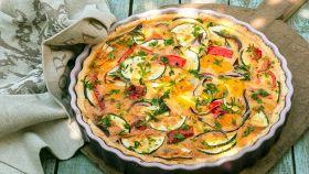 Torta salata e verdure