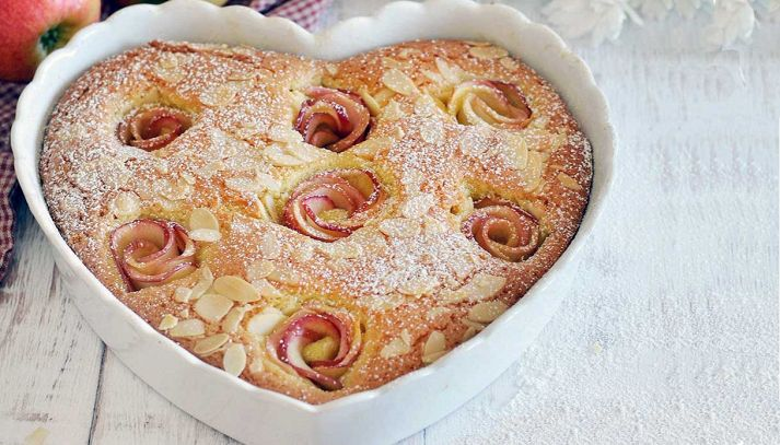 Torta alle rose di mela