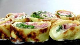 Crepes salate al prosciutto e formaggio