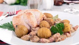 Involtini di pollo alle castagne