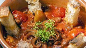 Moscardini in umido con fagioli